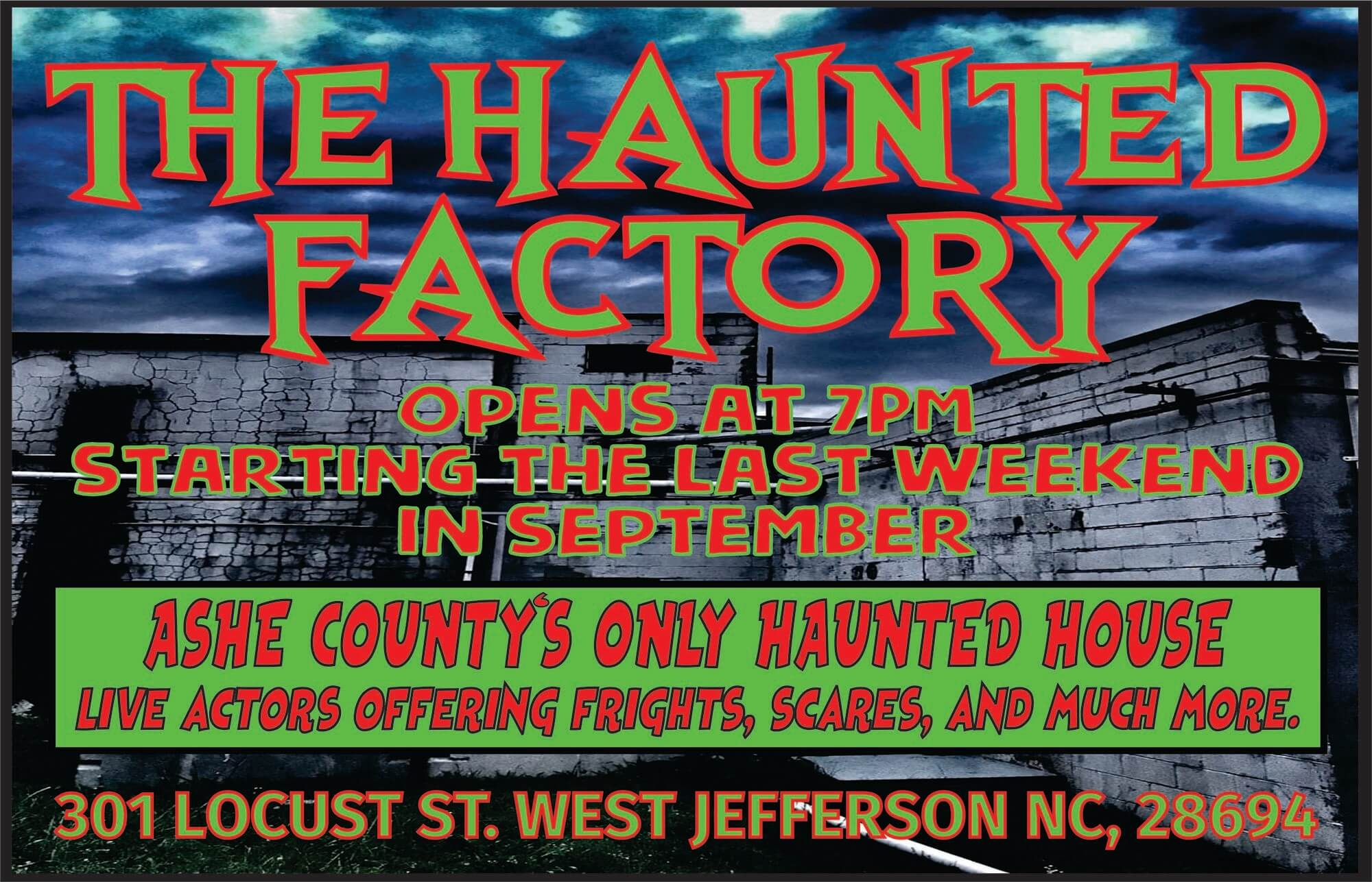 The Haunted Factory logo